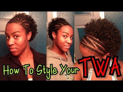 natural-black-hair:-short-twa-style---cornrow-to-fro---loc-method