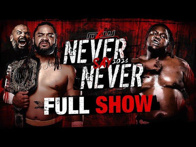 Never Say Never 2021: Fatu vs. Tankman • World Heavyweight Championship