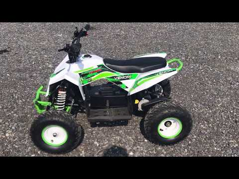 Venom 1300w 48V Lithium Battery Powered Electric ATV W/ REVERSE - Walk around
