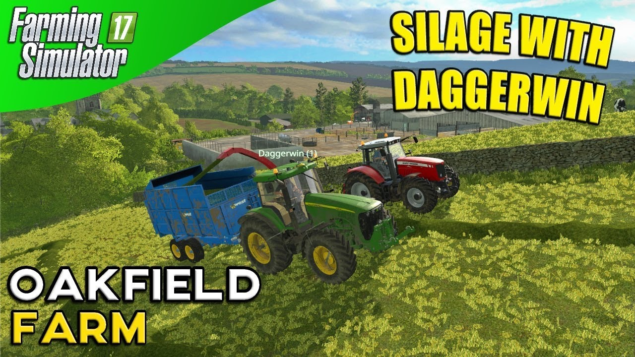 Farming Simulator 17 - Oakfield Farm Multiplayer With Daggerwin Part 2