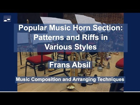 Popular Music Horn Section: Patterns and Riffs