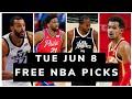 Free NBA Picks Today (Tue Jun 8) NBA Best Bets, NBA Prop Bets Today   Free Sports Picks