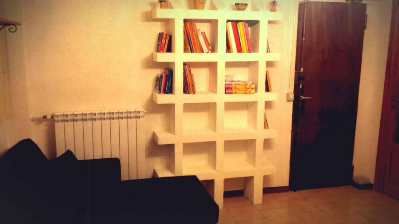 Libreria fai da te cemento cellulare youtube for Libreria fai da te