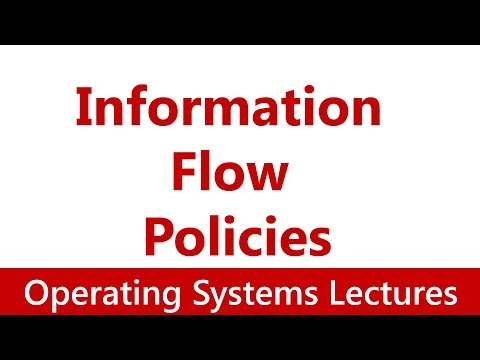 Operating System #36 Information Flow Policies: Bell-LaPadula Model, Biba Model