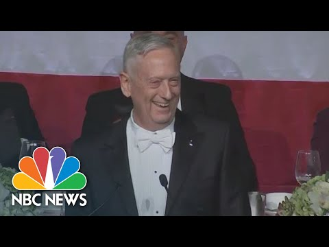James Mattis Jokes About Trump's 'Overrated General' Comment | NBC News