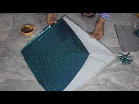 How to make a  Plastic Bag Gift Paper Kite  at home