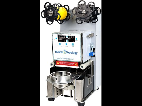 Bubble Tea Sealer Machine for Boba, Bubble Tea, Slushies, Coffee, Drinks Automatic