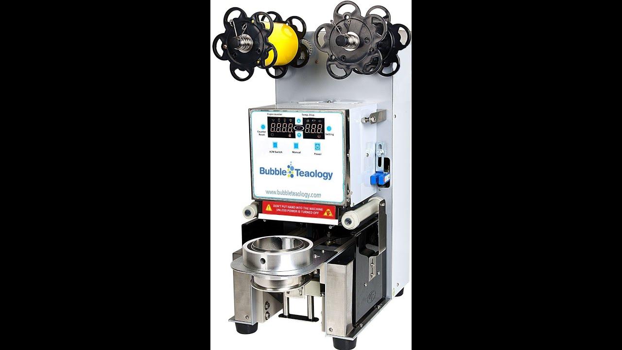 Youtube Automated Cms By Teedeskdev: Bubble Tea Sealer Machine For Boba, Bubble Tea, Slushies