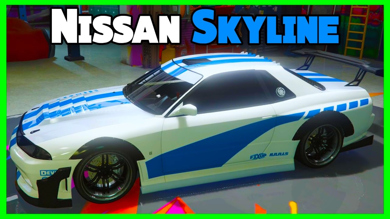 gta 5 online import export dlc new nissan skyline car. Black Bedroom Furniture Sets. Home Design Ideas