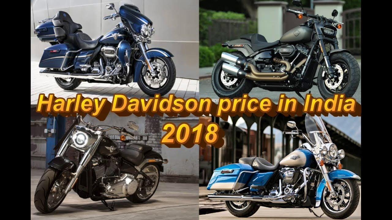 Harley Davidson Price in india 2018 - YouTube