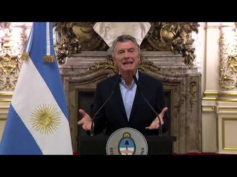 Palabras del presidente de la Nación, Mauricio Macri.