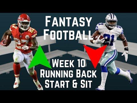 Fantasy Football - Week 10 Running Back Start or Sit