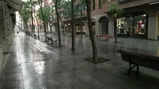 Una tromba de agua y granizo inunda túneles y garajes en Valladolid