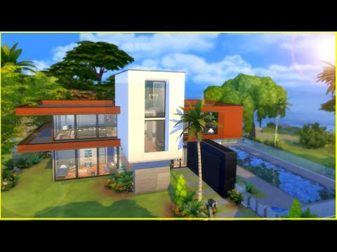 MODERN AND STYLISH BEACH HOUSE  | T he Sims 4 House Building