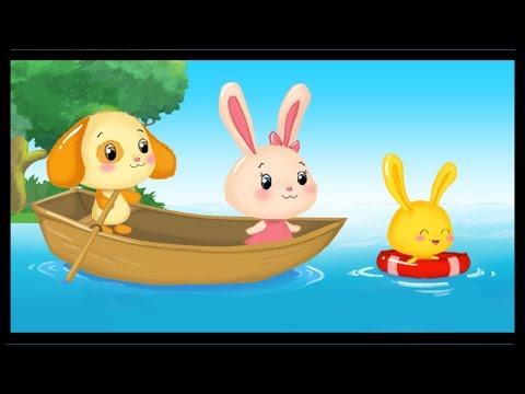 Rame rame sur ton bateau en français - Row Row Row Your Boat in French