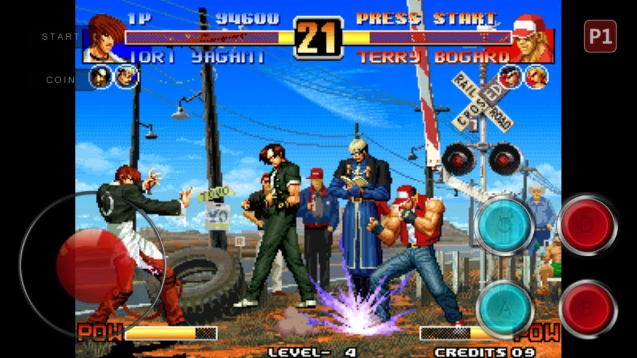 Android Mame Emulator Super Arcade King of Fighters 96, The(Anniversary  Edition, Hack) Game Play