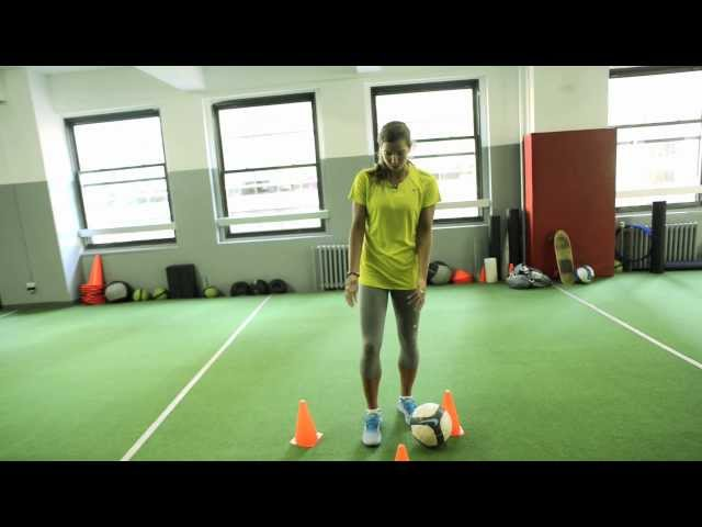 How to Perform Tobin Heath's Closed-Space Dribbling Soccer Drill