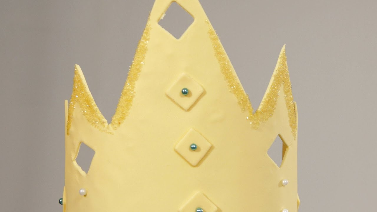 How To Make A Fondant Crown Cake Fondant Youtube
