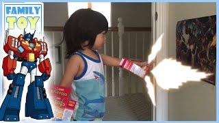 Real Life Optimus Prime Battle Kid - Dancing Transformers Toys, Apeface, Playskool Rescue Bots IRL