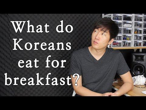 What Koreans eat for breakfast