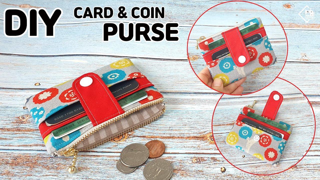 DIY CUTE CARD & COIN PURSE / Mini wallet / zipper pouch / sewing tutorial [Tendersmile Handmade]
