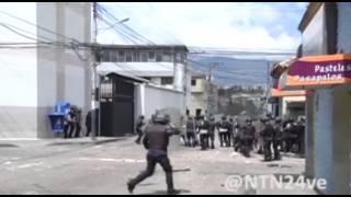 Estudiantes y policías se enfrentan en las calles de Táchira
