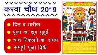Karwa Chauth 2019 Date : करवा चौथ 2019 कब है, चंद्रोदय का समय, पूजा का शुभ मुहूर्त, पूजा विधि हिंदी
