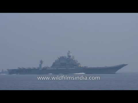 The largest Indian Naval Ship INS Vikramaditya (R33)  during Passex