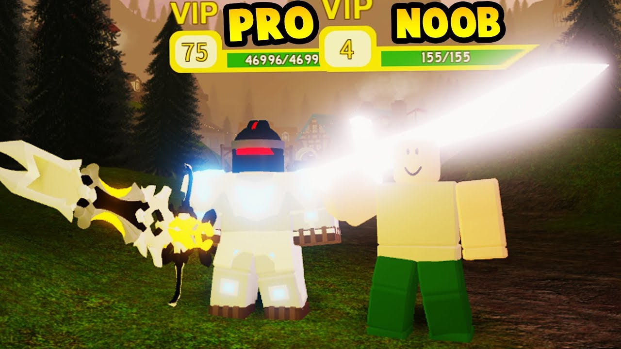 Pro Gives Crystalized Sword To Noob Roblox Dungeon Quest - roblox dungeon quest noob to pro