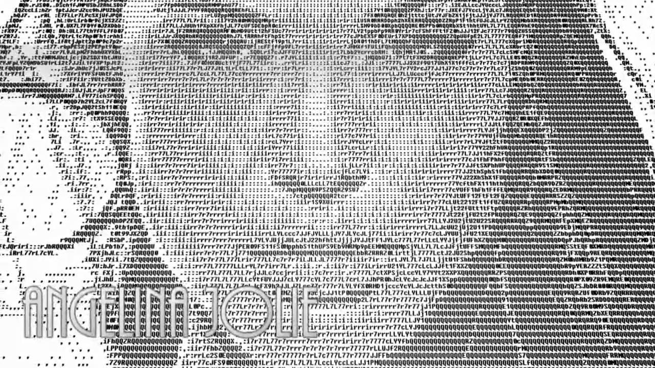Angelina Jolie ASCII Art Animation - YouTube
