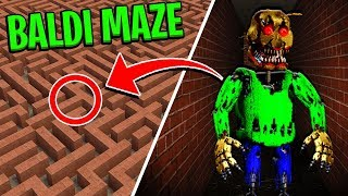 Stuck in a MAZE with NIGHTMARE BALDI! - Multiplayer Garry's Mod Gameplay