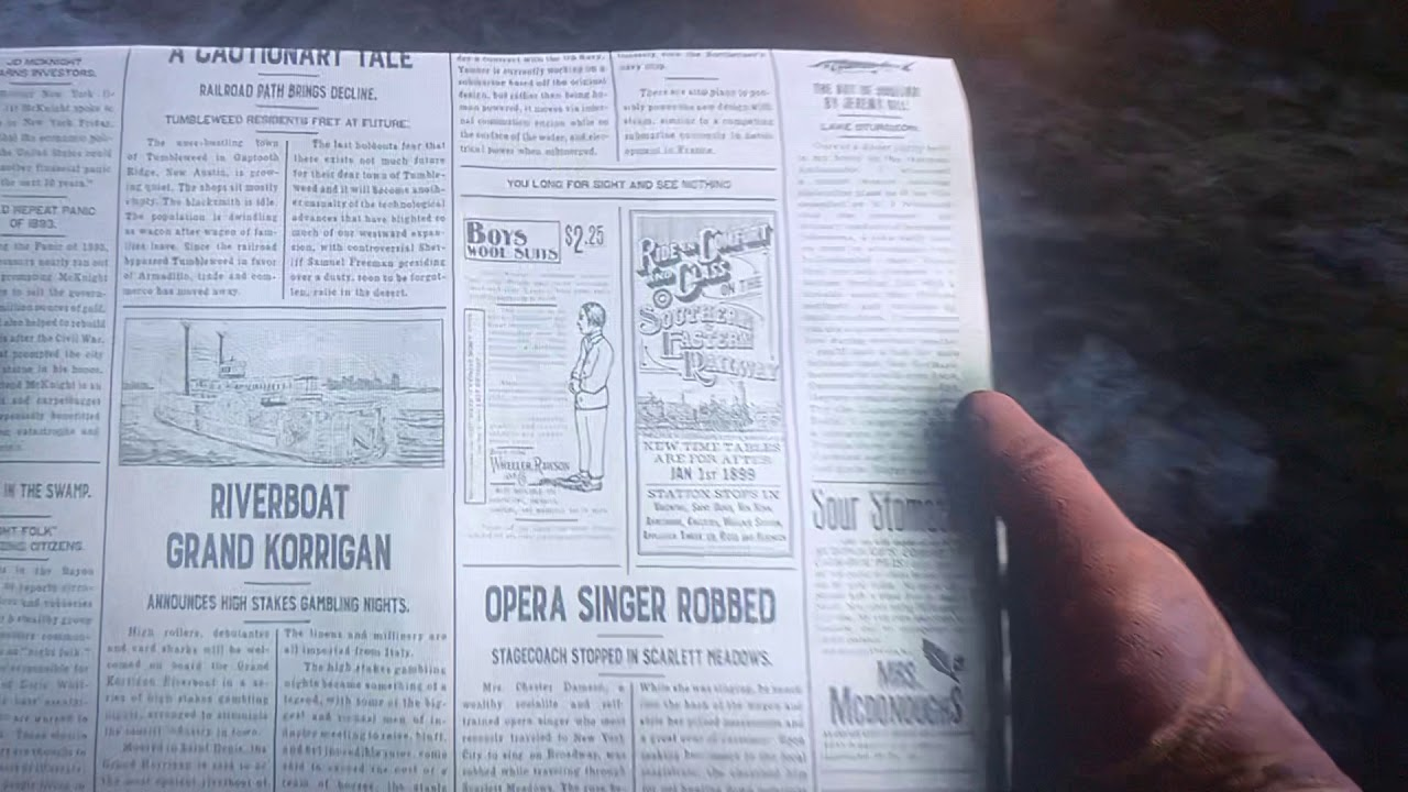 Red Dead Redemption 2 Newspaper Number 47 Cheat Code Youtube