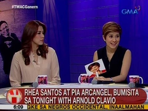 UB: Rhea Santos at Pia Arcangel, bumisita sa Tonight with Arnold Clavio