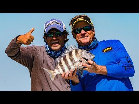 Sheepshead Fishing Offshore Tybee Island Georgia Catch and Cook