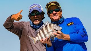 Sheepshead Fishing Tybee Island Catch Fillet and Cook - 4K