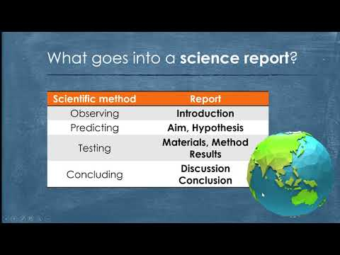 EEI 5 - Science report writing: Part 1
