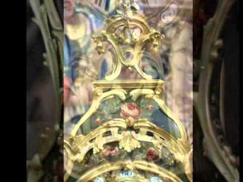 AN 18TH CENTURY LOUIS XV, VERNIS MARTIN CARTEL SIGNED F. LESAGE A PARIS