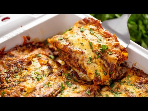 Easy beef enchiladas with red sauce