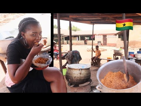 Ghana's Street Food on the Rural Streets of West Africa | Daily Life in Ghana , Africa