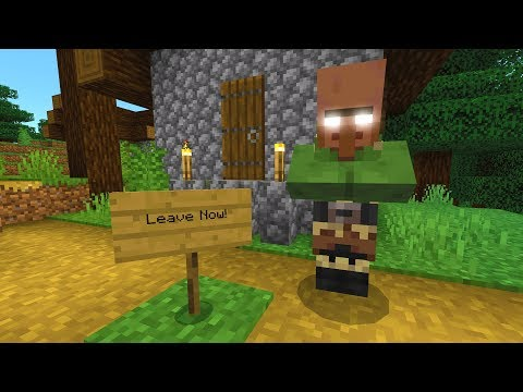 This villager told me to leave this Minecraft village..