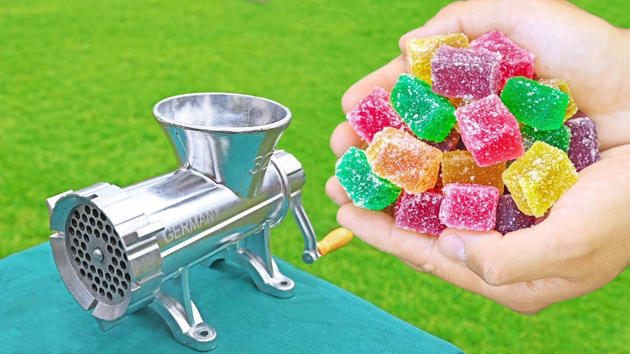EXPERIMENT JELLY CANDY VS MEAT GRINDER