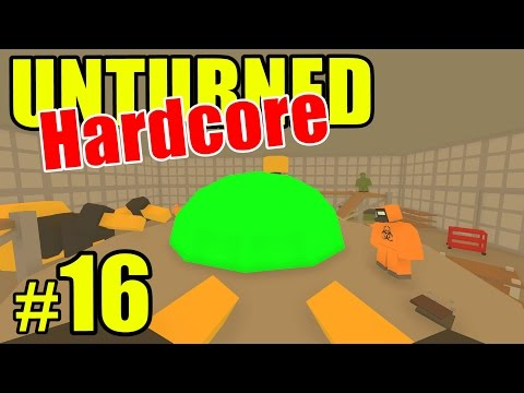 "Unturned HARD Mode - E16 ""Secret UFO Research Lab!!"" (Overgrown 3+ Map)"