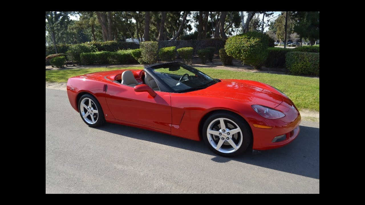 sold 2006 chevrolet corvette convertible victory red for sale by corvette mike anaheim. Black Bedroom Furniture Sets. Home Design Ideas