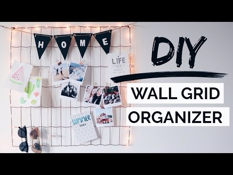 DIY Wall Grid Organizer! Urban Outfitters Inspired Room Decor!