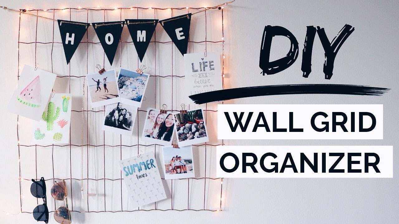 Diy Wall Grid Organizer Urban Outfitters Inspired Room Decor Youtube