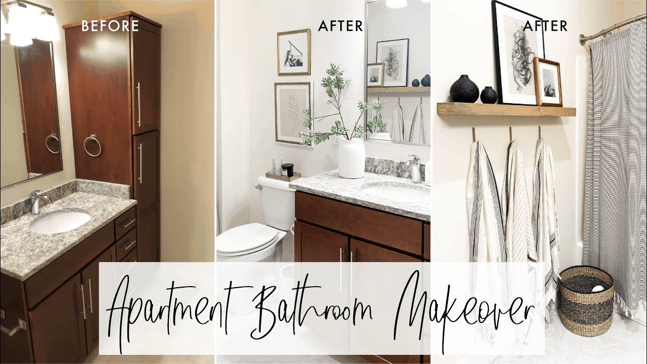 Apartment Bathroom Ideas Decorating My Apartment Bathroom Youtube
