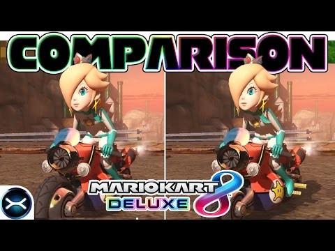 Mario Kart 8 Deluxe Head-to-Head Comparison on 3 Tracks! (Nintendo Switch VS Wii U Graphics)