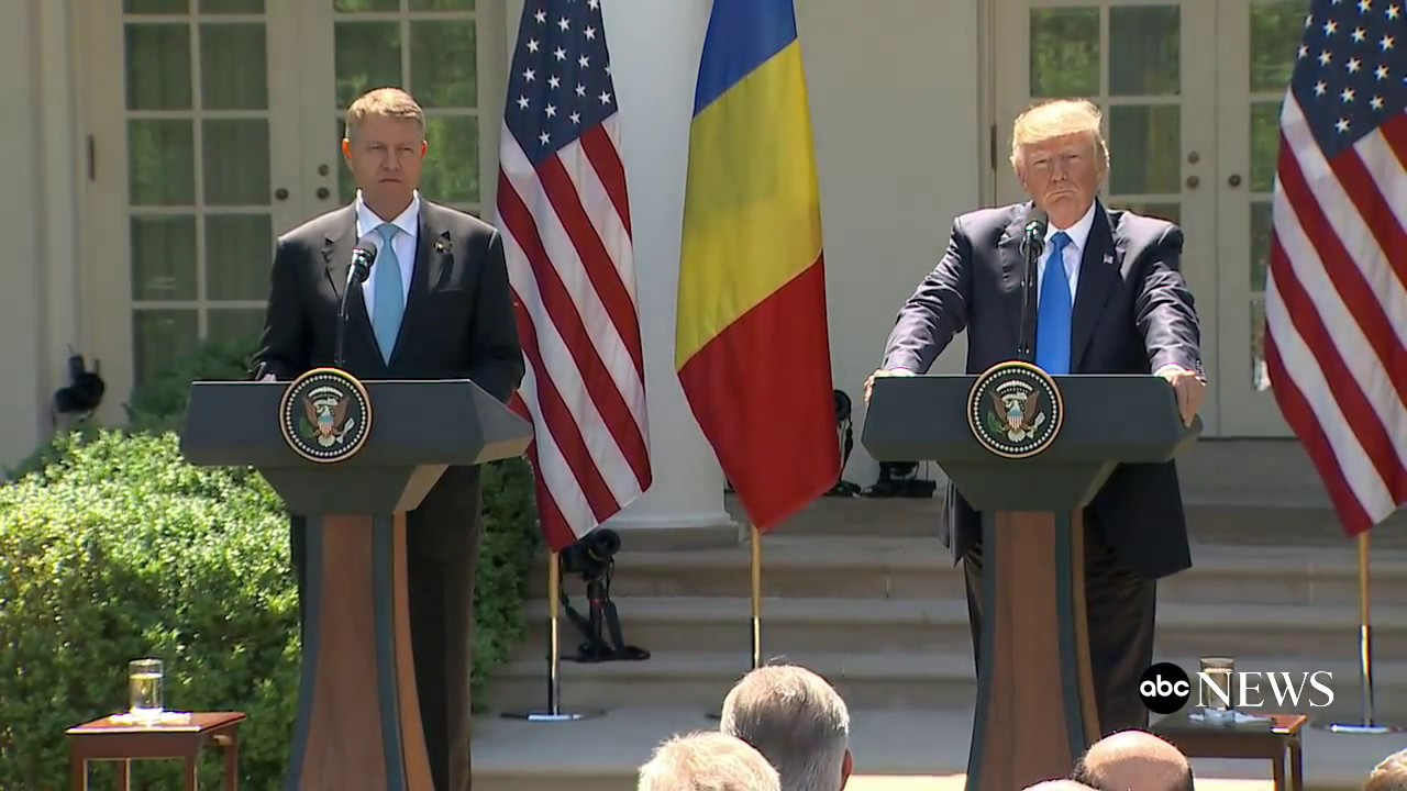 President Donald Trump full remarks at news conference with Romanian President Iohannis - YouTube