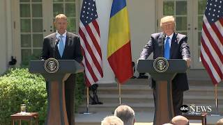 President Donald Trump full remarks at news conference with Romanian President Iohannis