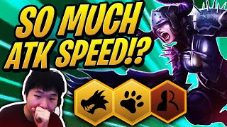 SO MUCH ATTACK SPEED?! - 4 Wild Shapeshifter Comp | Teamfight Tactics | TFT | LoL Auto Chess